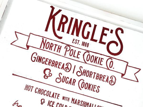 Kringle's Cookie Co. Cut File + DIY Christmas Kitchen Sign #christmas #christmascutfile #cutfile #cricut #silhouette
