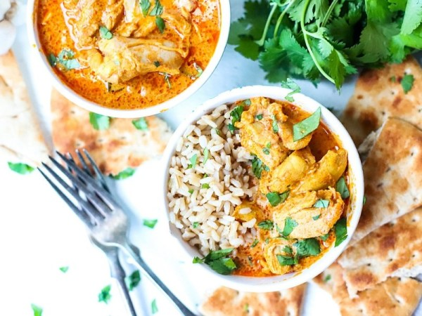 Instant pot butter chicken and rice
