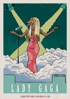 Lady Gaga à poil - dessin de Gilderic