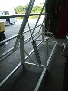 Table Frame showing Air rams.