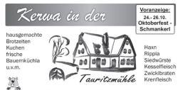 Kirwa in der Tauritzmühle @ Tauritzmühle