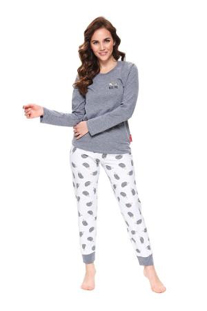 Pohodlné dámske pyžamko s dlhým rukávom Hug Me