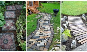 10 Diy Garden Path Ideas How To Make A Garden Walkway for 14 Smart Concepts of How to Improve Backyard Pathway Ideas