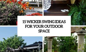 15 Wicker Swing Ideas For Your Outdoor Space Shelterness with 13 Clever Ideas How to Upgrade Backyard Swing Ideas