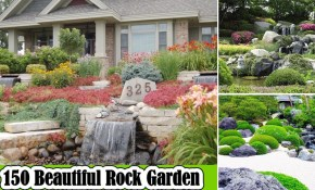 150 Beautiful Rock Garden Ideas For Landscaping Backyard Youtube regarding Rock Backyard Landscaping Ideas