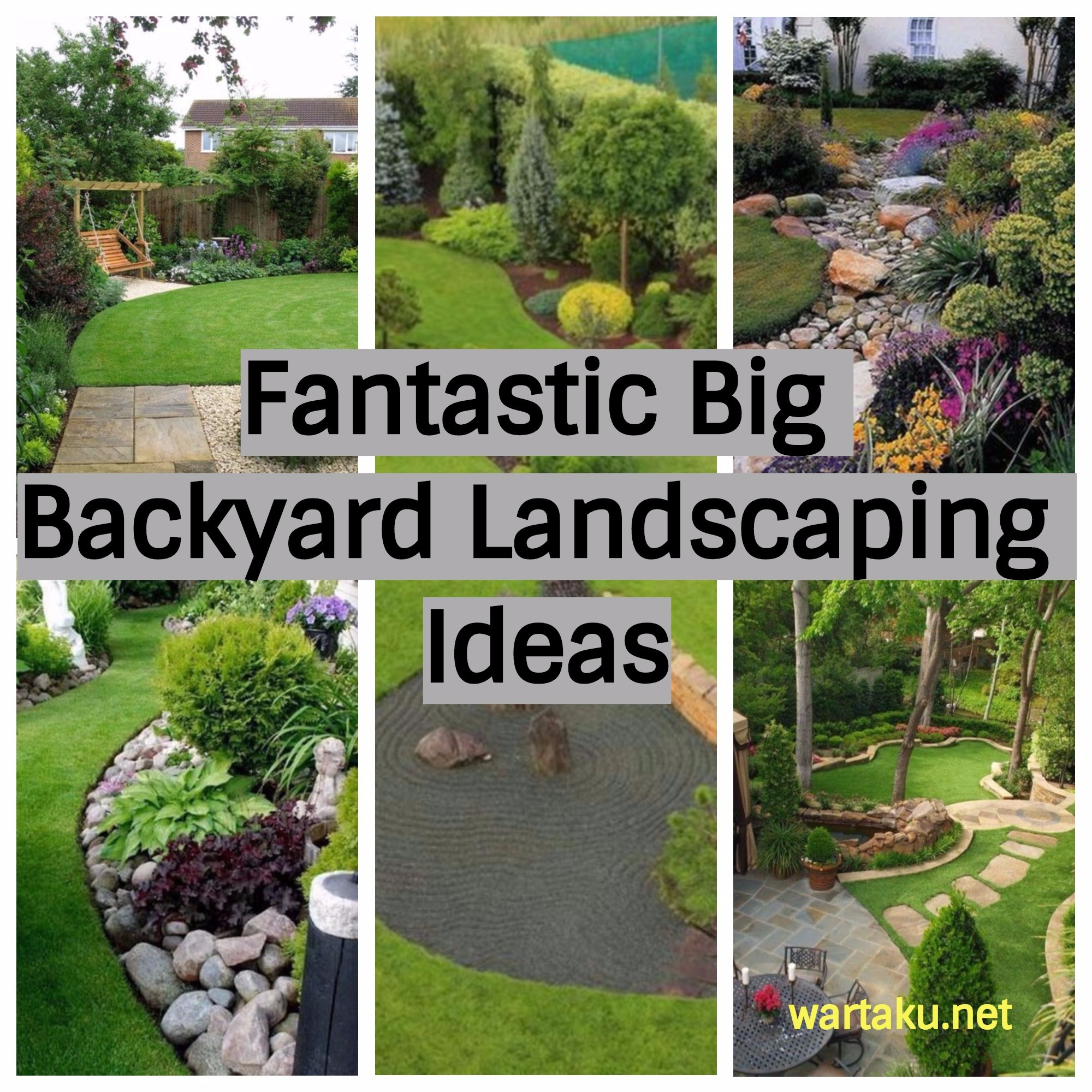 17 Fantastic Big Backyard Landscaping Ideas Wartaku with Large Backyard Ideas