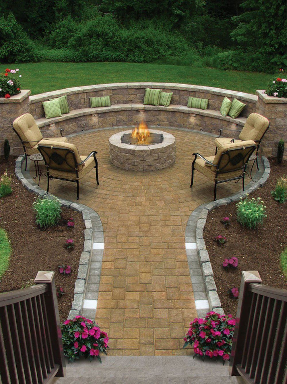 17 Of The Most Amazing Seating Area Around The Fire Pit Ever within 14 Genius Designs of How to Improve Backyard With Fire Pit Landscaping Ideas