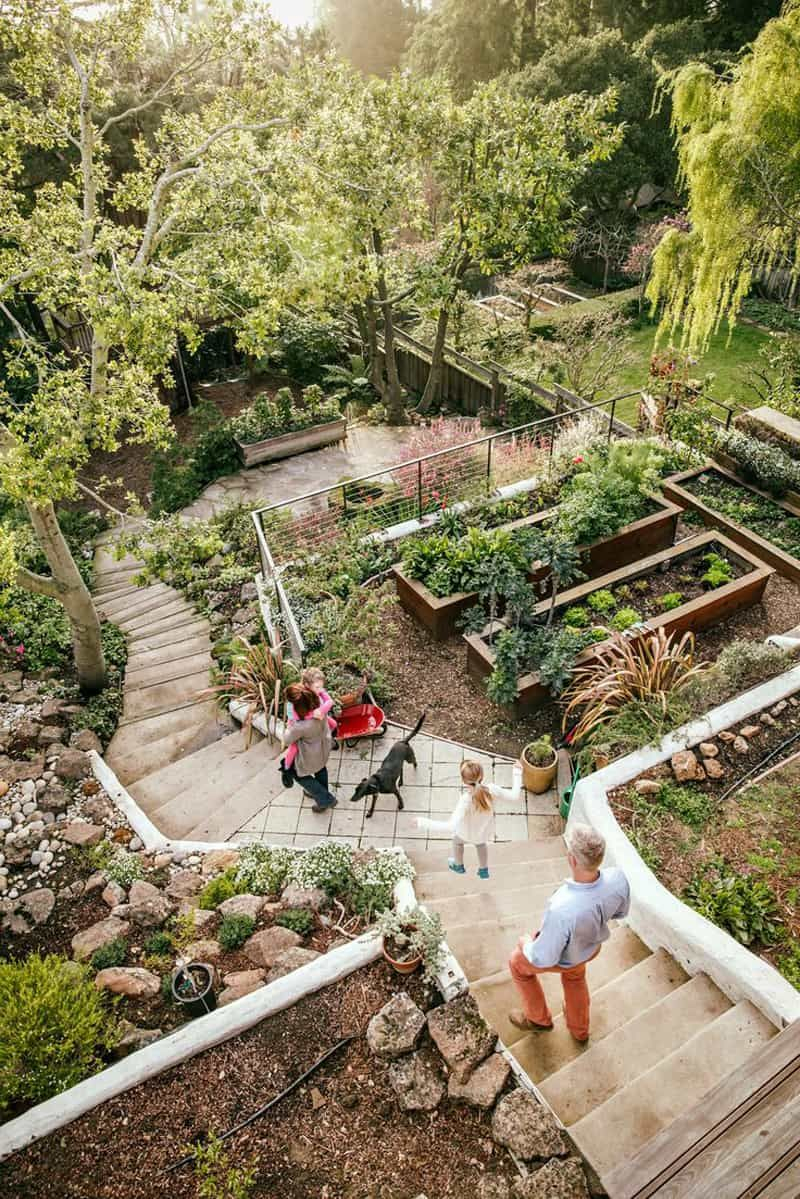 20 Sloped Backyard Design Ideas Sloping Backyard Garden Sloped within 14 Clever Ideas How to Makeover Sloped Backyard Design Ideas