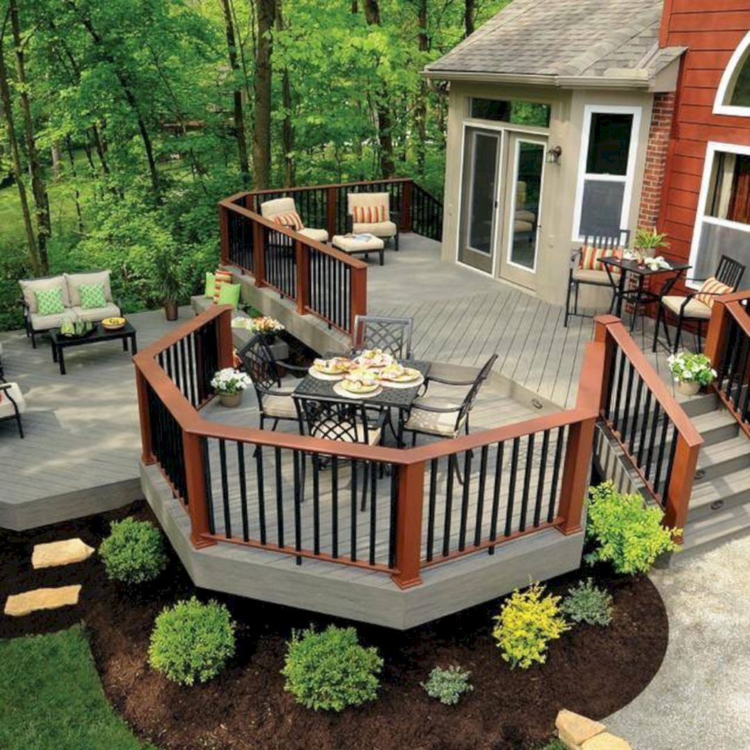 25 Beautiful Backyard Wooden Deck Design Ideas That You Must See It with regard to Backyard Wood Patio Ideas