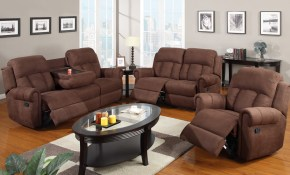 3 Piece Sofa Set Recliner With Fold Down Cup Holders with regard to 10 Clever Designs of How to Craft Three Piece Living Room Set