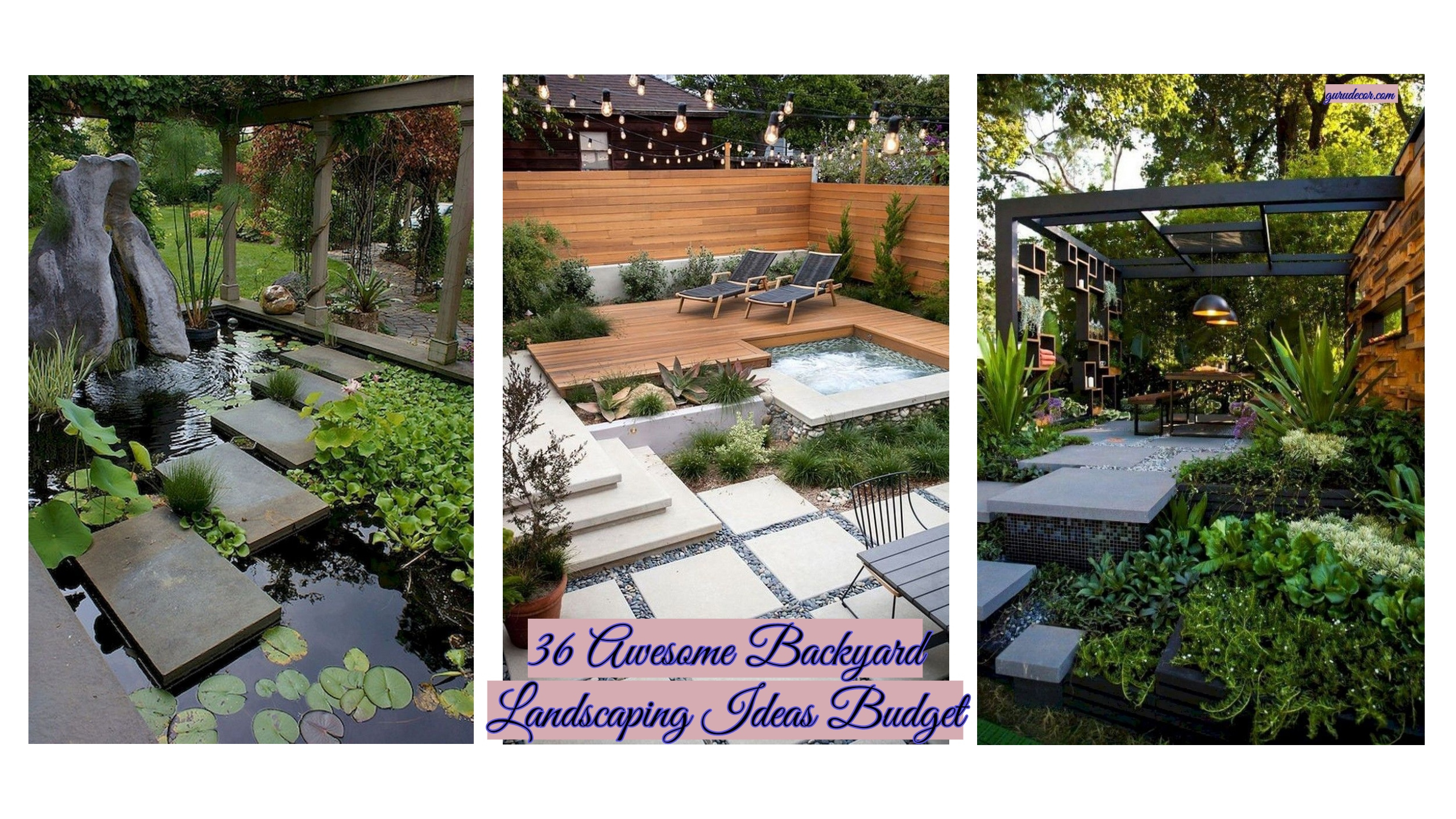36 Awesome Backyard Landscaping Ideas Budget Gurudecor throughout 12 Smart Ideas How to Build Cool Backyard Landscaping Ideas