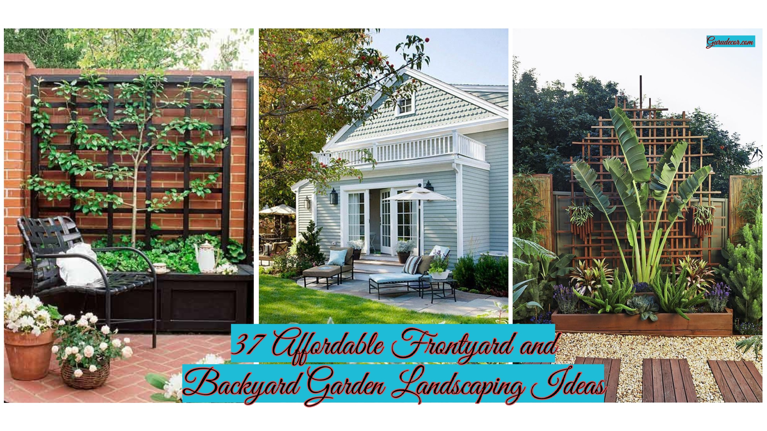 37 Affordable Frontyard And Backyard Garden Landscaping Ideas for 10 Clever Initiatives of How to Makeover Backyard Garden Designs And Ideas