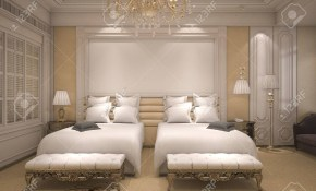 3d Rendering Luxury Modern Bedroom Suite In Hotel With Golden intended for Modern Bedroom Suite