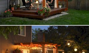 4 Tips To Start Building A Backyard Deck Green Patio Lighting with regard to Small Deck Ideas For Small Backyards