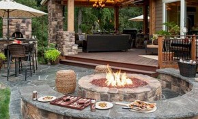 4 Tips To Start Building A Backyard Deck Patio Designs Backyard inside Backyard With Fire Pit Landscaping Ideas
