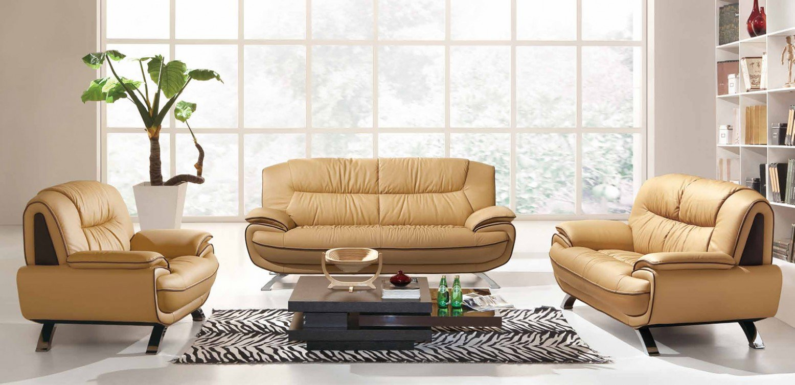 405 Leathereco Leather Living Room Set Esf Furniture within 13 Awesome Ways How to Build Living Room Set Sale