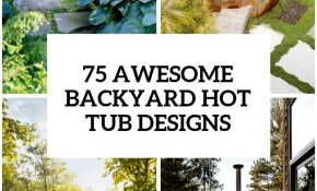 75 Awesome Backyard Hot Tub Designs Digsdigs with 14 Genius Ideas How to Upgrade Backyard Hot Tub Landscaping