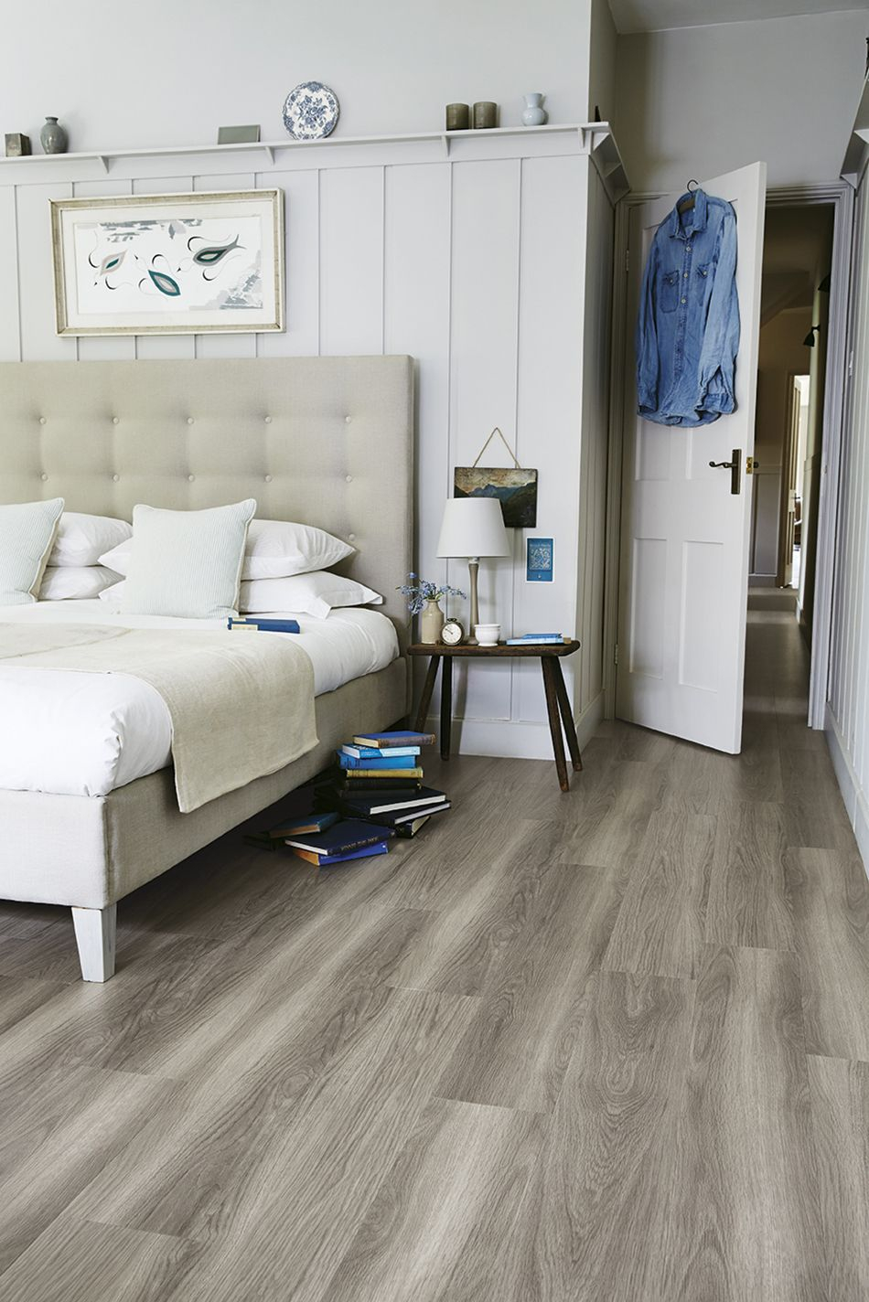 A Light And Bright Modern Bedroom With Lvt Wood Effect Flooring Get pertaining to Modern Bedroom Tiles