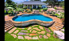 Above Ground Pool Ideas Landscaping Randolph Indoor And Outdoor Design inside Above Ground Pool Ideas Backyard