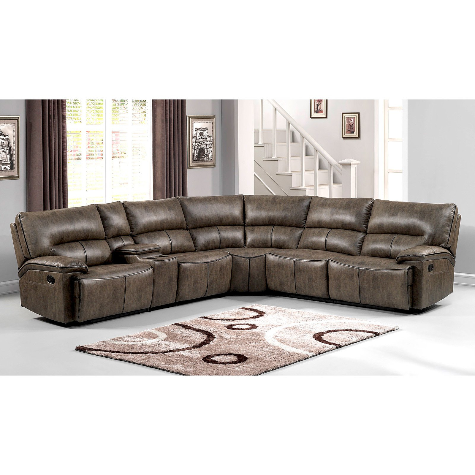 Ac Pacific Donovan 6 Piece Sectional Sofa Set Walmart throughout 13 Smart Designs of How to Makeover 6 Piece Living Room Set