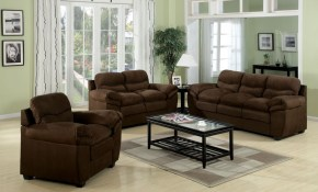 Acme Standford Easy Rider Microfiber Living Room Set In Chocolate pertaining to Microfiber Living Room Sets