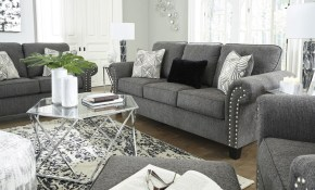 Ashley Furniture Agleno Living Room Set In Charcoal Local with Living Room Sets Ashley