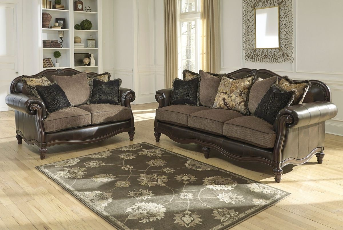 Ashley Furniture Winnsboro Living Room Set In Vintage Local throughout Living Room Sets