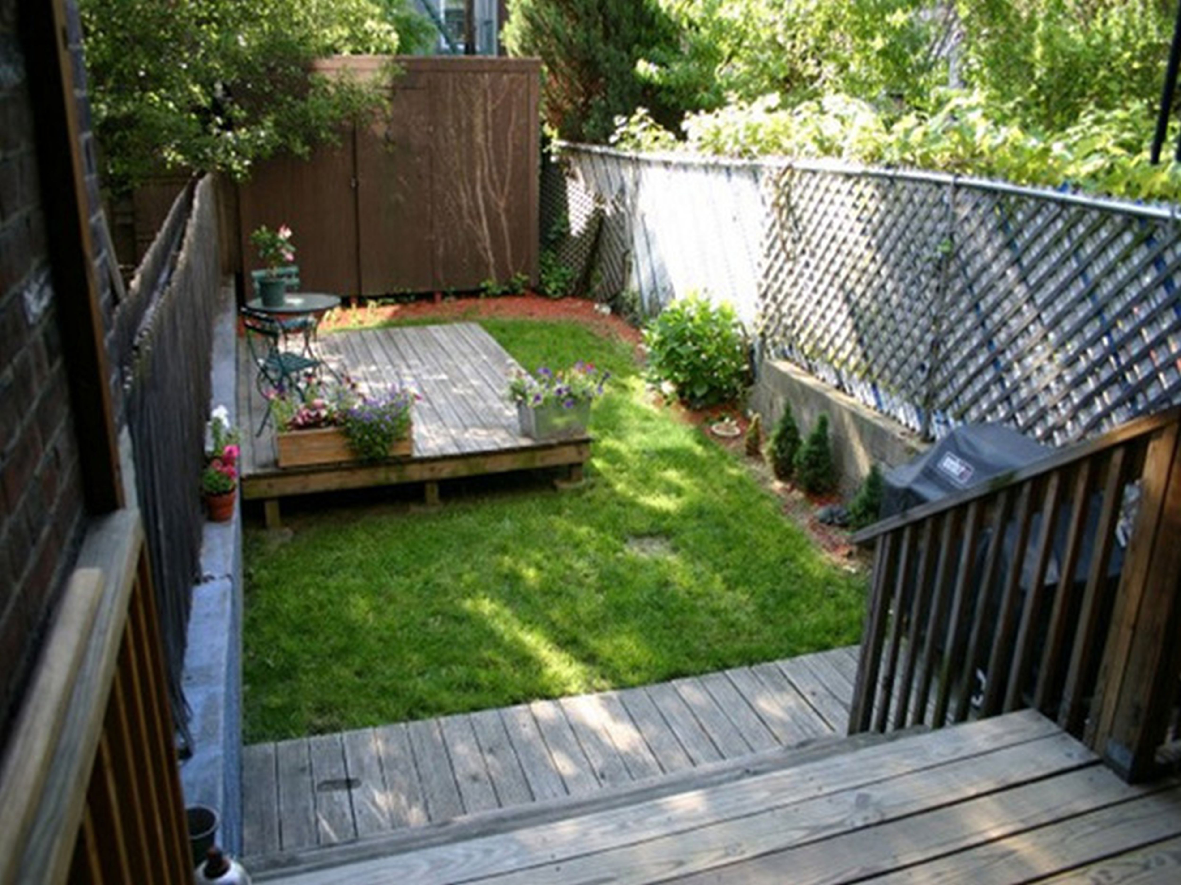 Astonishing Wooden Deck Which Is Applied At Patio Designed Using with 12 Genius Concepts of How to Build Small Backyard Ideas