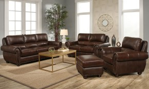 Austin 4 Piece Top Grain Leather Living Room Set regarding 12 Clever Initiatives of How to Craft Nice Living Room Set