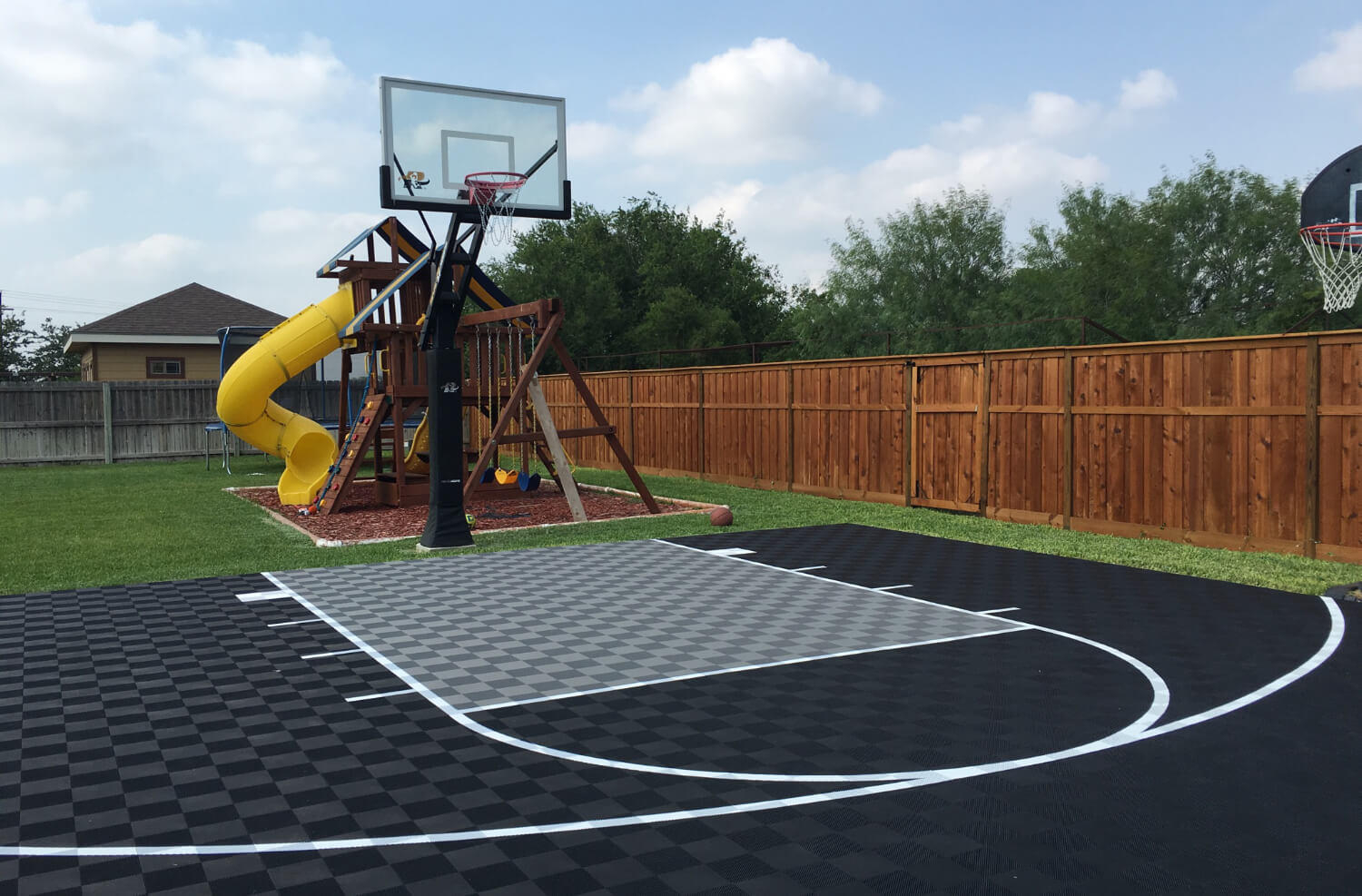 Backyard Basketball Court Ideas Modutile Sport Floor Picture Gallery regarding 12 Smart Designs of How to Improve Backyard Basketball Court Ideas