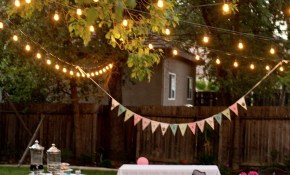 Backyard Birthday Fun Pink Hydrangeas Polka Dot Napkins Patio within 13 Smart Initiatives of How to Makeover Fun Backyard Party Ideas