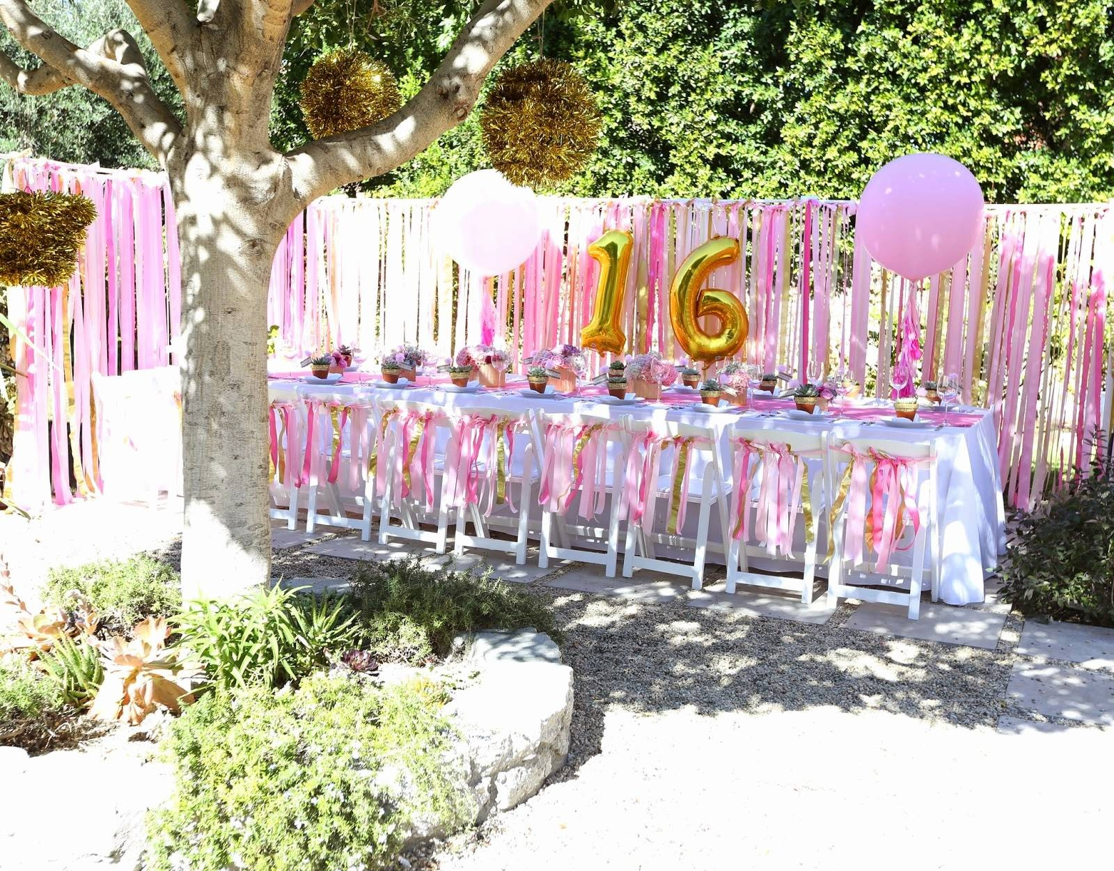 Backyard Birthday Party Ideas Sweet 16 Gift For A Girl Astonishing pertaining to 10 Smart Ideas How to Build Sweet Sixteen Backyard Party Ideas