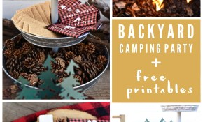 Backyard Camping Party Make Life Lovely with Backyard Campout Ideas