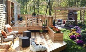 Backyard Deck Ideas Ground Level Air Home Products Easy And inside 11 Clever Ways How to Makeover Backyard Decks Ideas