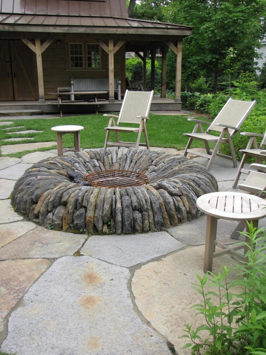 Backyard Fire Pit Ideas With Simple Design Floating Lawn Chair throughout 12 Genius Ideas How to Upgrade Small Backyard Fire Pit Ideas