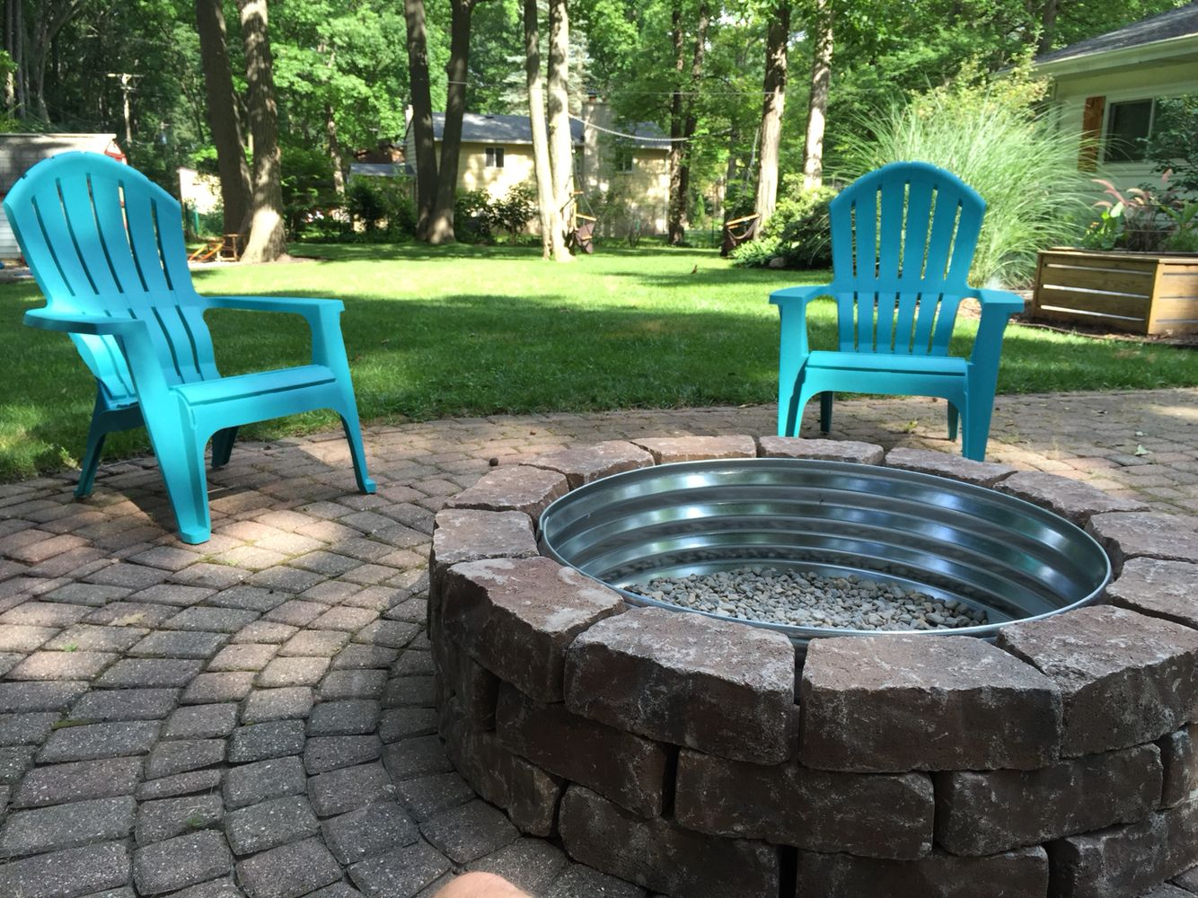 Backyard Fire Pit Lowes Paver Bricks With Tractor Supply Fire Ring with regard to Lowes Backyard Ideas