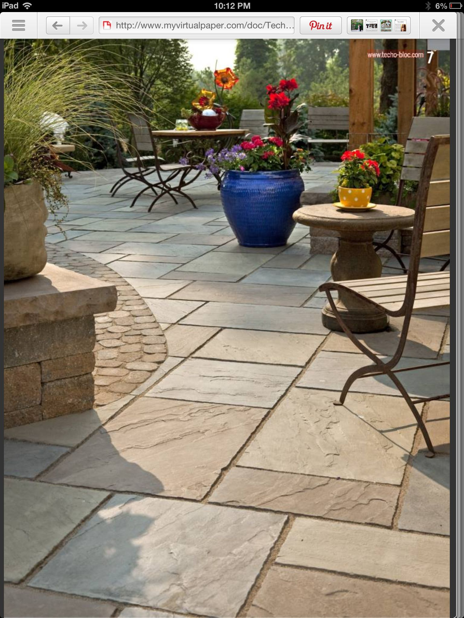 Backyard Ideas Stamped Concrete Contrast Of Smaller Pavers On Border throughout Backyard Floor Ideas