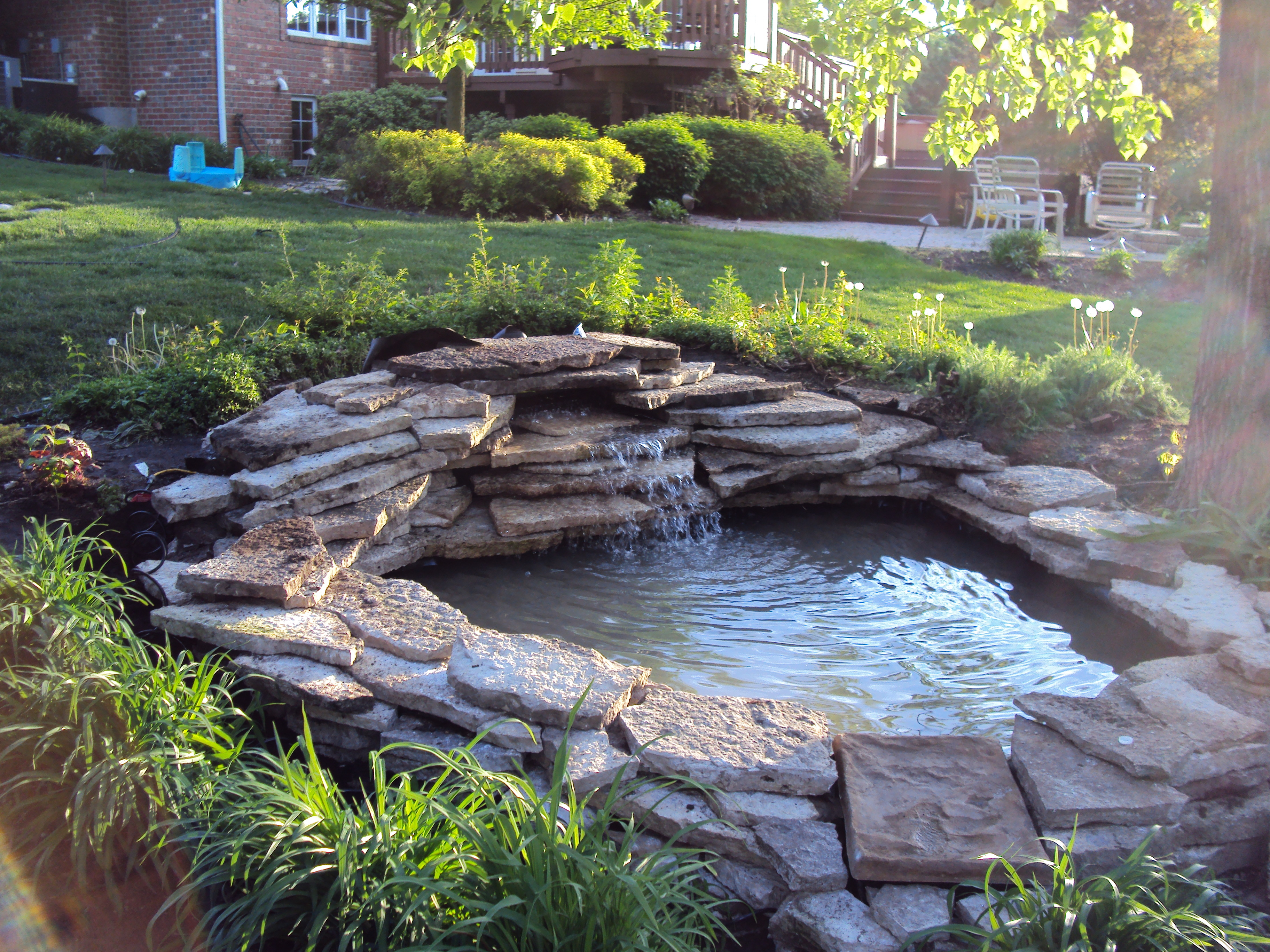 Backyard Pond Ideas Beautified Inexpensive Waterfall Tierra Este throughout Easy Backyard Pond Ideas