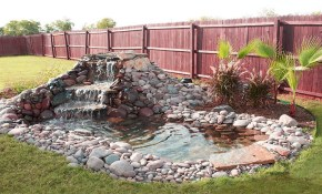 Beautiful Waterfall Ideas For Small Ponds Backyard Garden Waterfalls pertaining to Backyard Pond Ideas Small