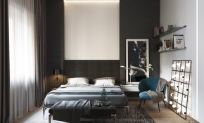 Black And White Master Bedroom Shows The Stretch Of The Monochromatic pertaining to Modern White Bedroom Ideas