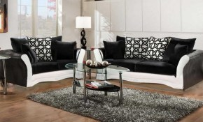 Black And White Sofa And Love Living Room Set 8000 Black And White with White And Black Living Room Set