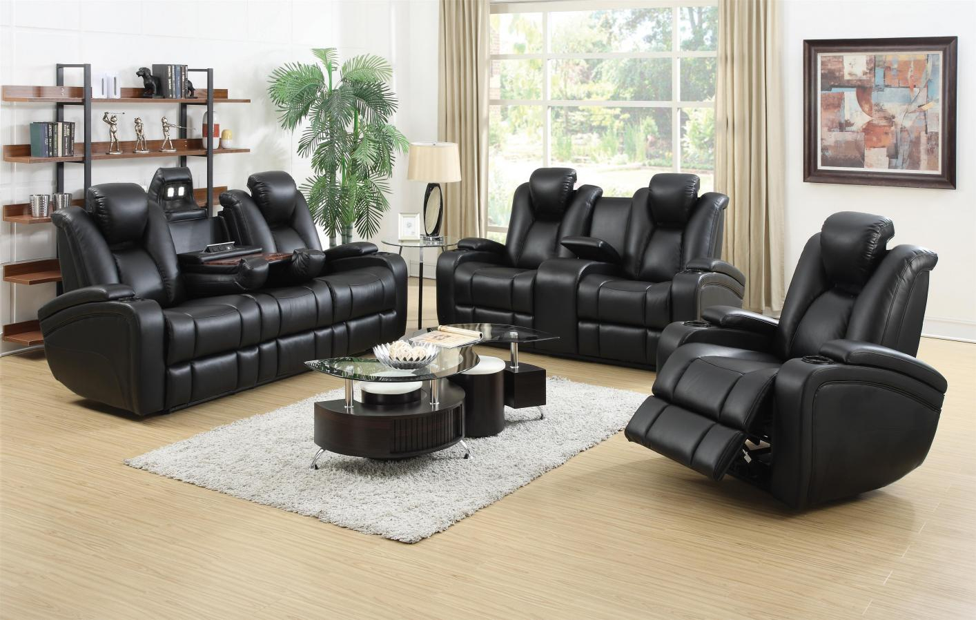 Black Leather Power Reclining Sofa And Loveseat Set Steal A Sofa inside 12 Awesome Tricks of How to Make Black Leather Living Room Set