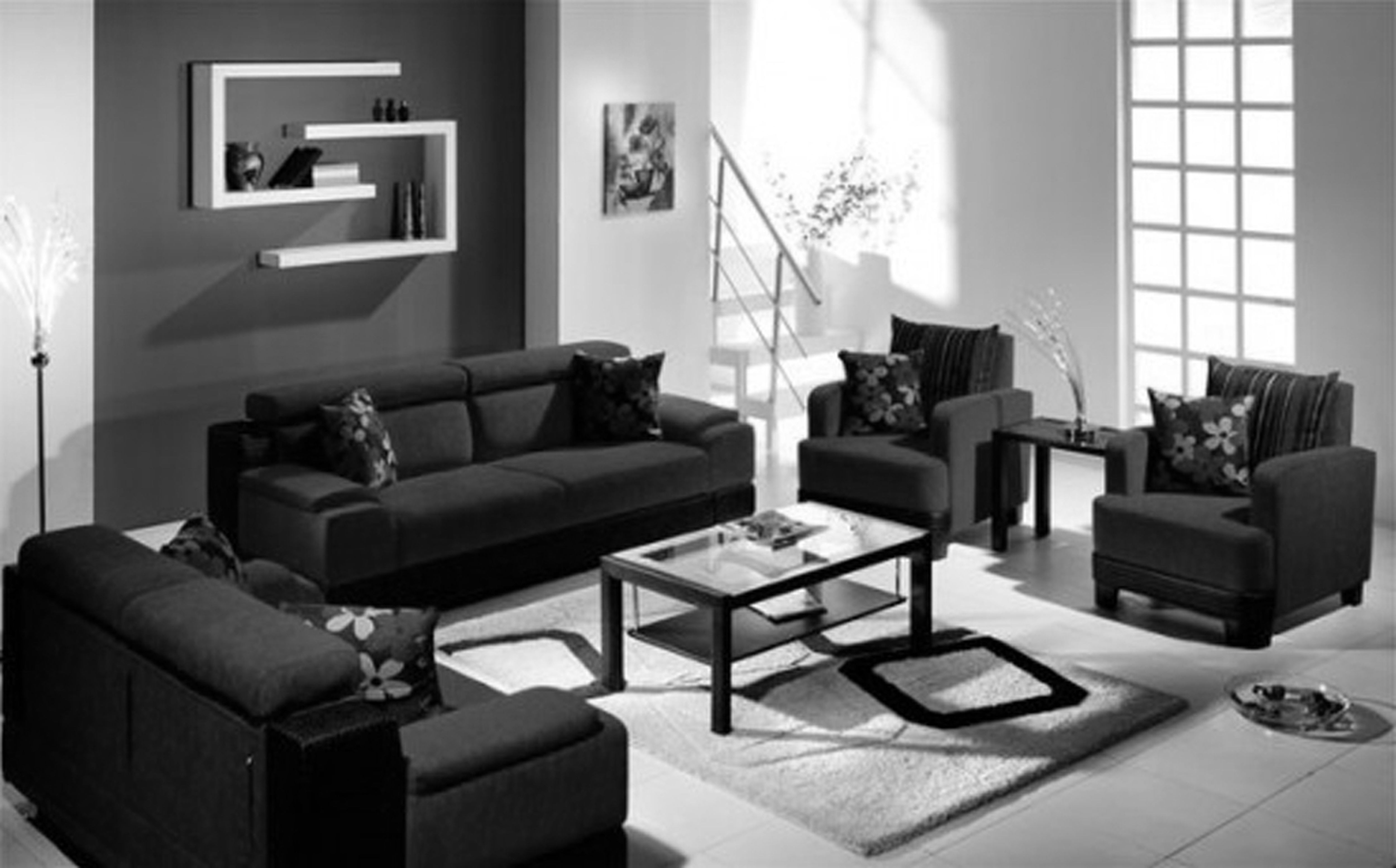 Black Living Room Set Decoration Beautiful Furniture Catpillowco pertaining to 15 Awesome Tricks of How to Craft Black And White Living Room Sets