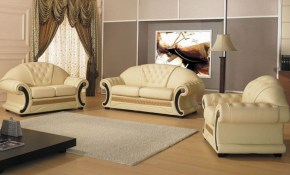 Bloomsbury Market Crase Traditional 3 Piece Leather Living Room Set for Traditional Leather Living Room Sets