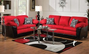 Bold Red And Black Couch Set Implosion Red Sofa Loveseat within 10 Awesome Designs of How to Makeover American Freight Living Room Sets
