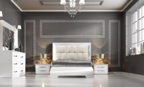 Carmen White Modern Bedrooms Bedroom Furniture regarding White Modern Bedrooms