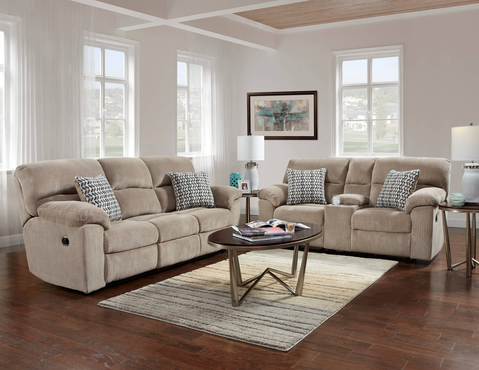 Chevron Seal Reclining Sofa And Loveseat Reclining Living Room Sets throughout 15 Some of the Coolest Ways How to Craft Reclining Sofa Living Room Set