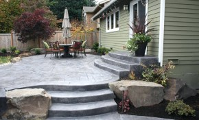 Concrete Backyard Ideas Freeskinscsgoclub for Small Concrete Backyard Ideas