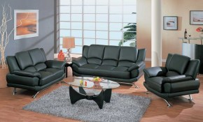 Contemporary Living Room Set In Black Red Or Cappuccino Leather San for 14 Genius Tricks of How to Build Modern Leather Living Room Set