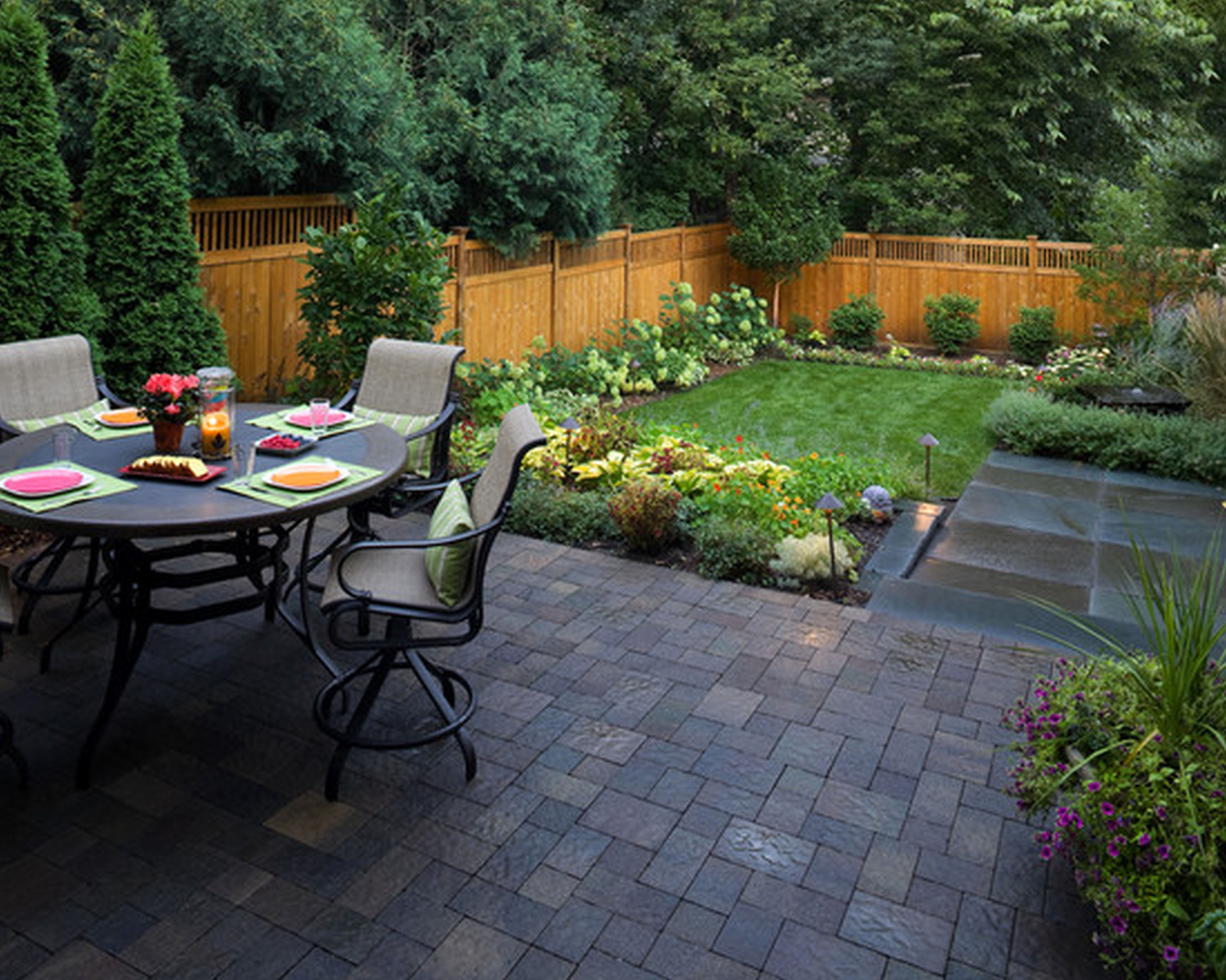 Cool Simple Patio Ideas For Small Backyards Pictures Best Image From within Ideas For Small Backyard